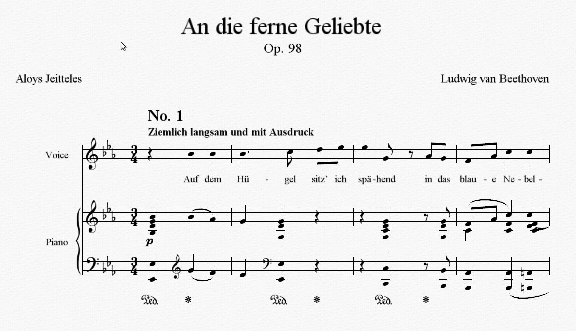 Beethoven's An die ferne Geliebte